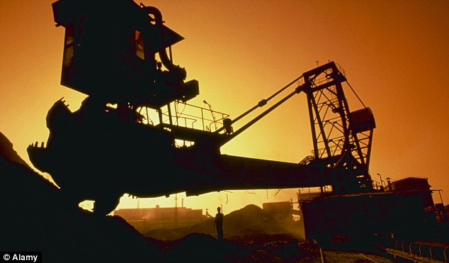 Miners and energy stocks were strengthened by solid manufacturing data from China
