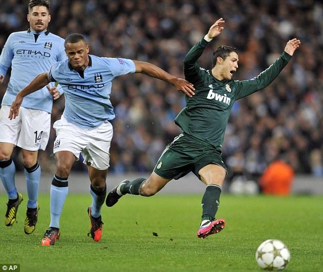 Ronaldo flings himself to the ground
