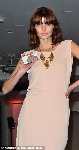 A model holding one of Uunique's new cases