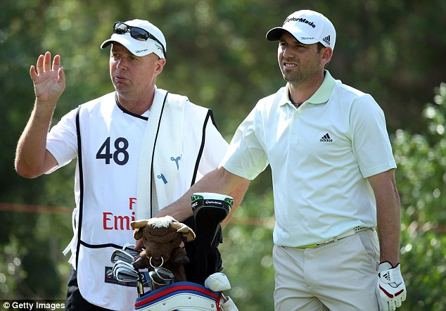 Up and down: Sergio Garcia had an eventful day as he fired a 64 in his second round