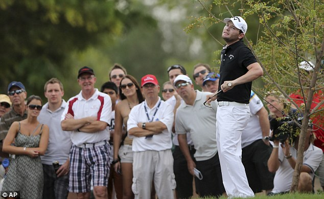 In contention: South African Branden Grace is just one shot off the leaders