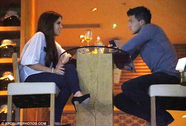 New couple? Maria and Leandro enjoyed an intimate dinner on Monday night