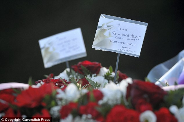 Family members left cards for Mr Collins who will be remembered as a 'fantastic person' as well as a soldier