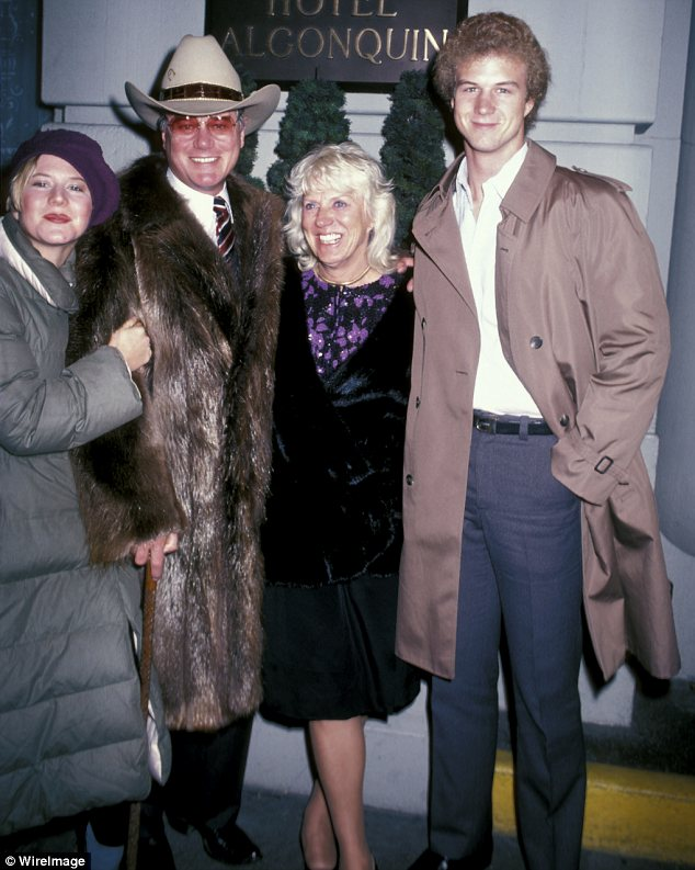 Family man: Hagman is survived by his wife Maj, their daughter Heidi and son Preston. They are pictured in 1982