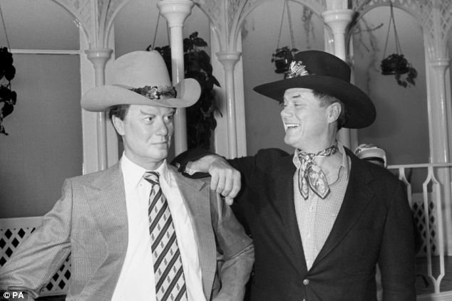 Screen legend: Hagman with his wax portrait at Madame Tussaud's in London in 1980