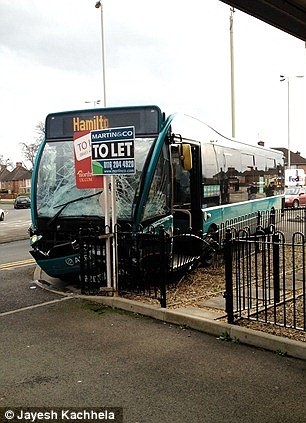 Scene: Alfred Throop, 67, was on a bus in Northfields, Leicestershire, on Thursday when the incident happened
