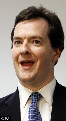 Under pressure: George Osborne may be unable to meet his tough fiscal targets