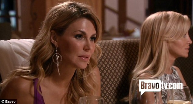 Confession over dinner: Brandi Glanville reveals she gets so lonely, she drinks, cries and takes antidepressants on the forthcoming episode of The Real Housewives of Beverly Hills
