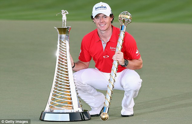 What a year: Rory McIlroy celebrates his DP World Tour Championship and race to Dubai victories