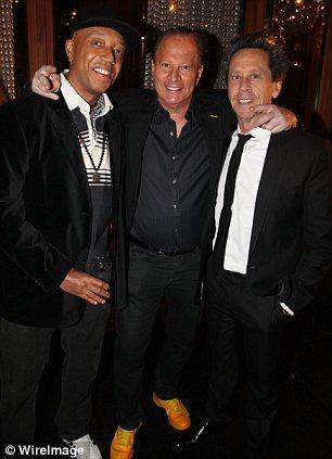Russell Simmons, Stewart Rahr and Brian Grazer