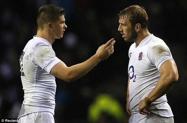 Are you sure? Owen Farrell remonstrates with Robshaw