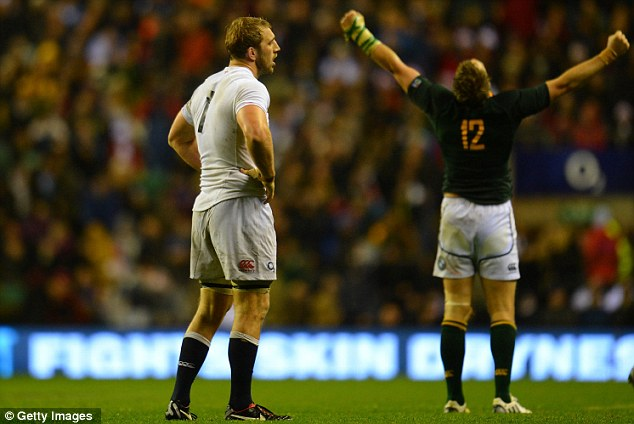 Madness: Captain Chris Robshaw made the wrong call in the latter stages of the game