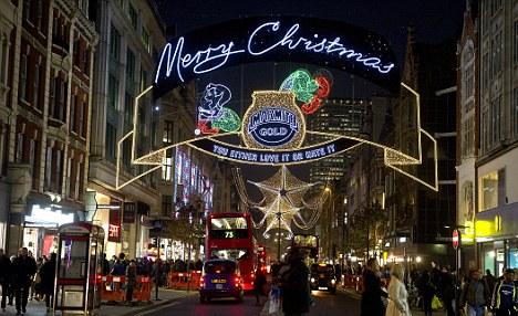Heaving: Festive sales to rise by just 1 per cent despite online and mobile shopping increase