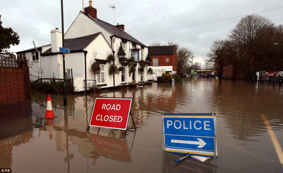 Roads around Tewkesbury have been closed as emergency services try to mitigate against flooding. It is the second time this year that the town has been hit