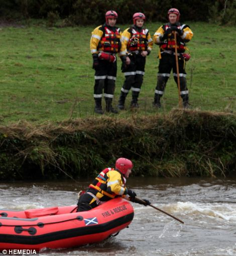 A major operation was launched after the alarm was raised at around 18:30 on Sunday. The Nith inshore lifeboat, backed by a search and rescue helicopter, are scouring the waters between Annan and the mouth of the Solway Firth