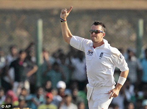 Chipping in: Swann was able to support Panesar with his wickets
