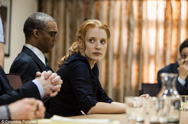CIA: The film focuses on, Maya, the 'wicked smart' female CIA agent played by actress Jessica Chastain who was obsessed with catching and killing bin Laden, pictured