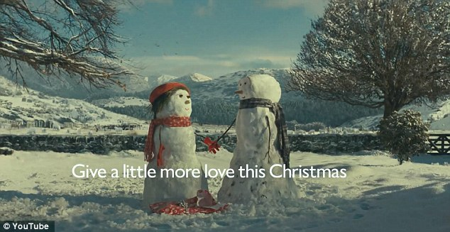 Heart-warming: The advert tells the story of a snowman who goes to huge efforts to buy a gift for his snowlady