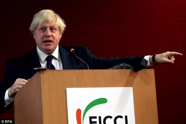 Way to go: The London Mayor told the gathering: 'I have no hesitation in saying here, Venez Londres, mes amis!' which translates as 'Come to London, my friends!'