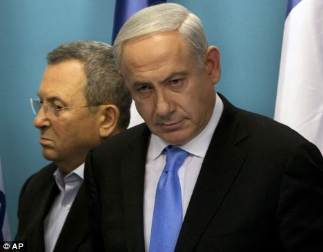 Critique: Mr Barak has previously spoken out against Israeli Prime Minister Benjamin Netanyahu, right, over his comments regarding the U.S.