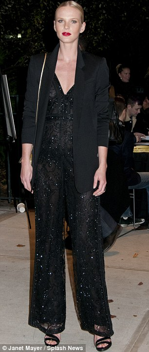 Victoria's Secret: The famous lingerie brand's angels Doutzen Kroes and Anne V attended in white and black trouser suits