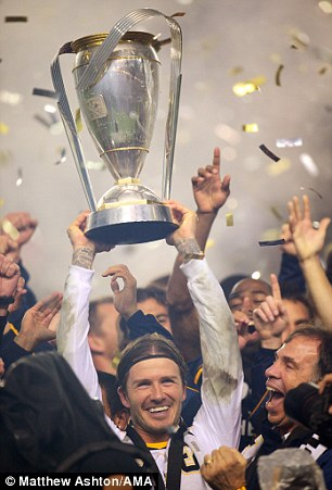 Silver lining: Beckham won the MLS Cup with Galaxy last season