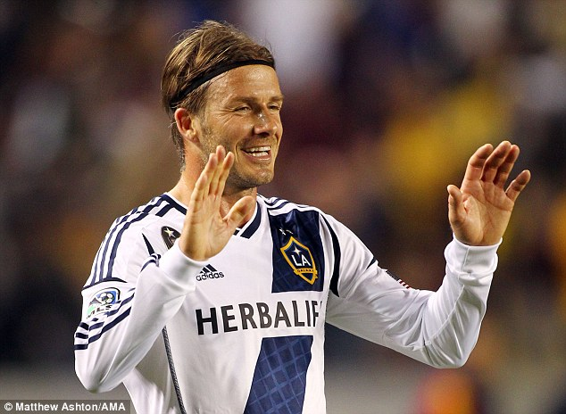 Success story: David Beckham's time in America has been well received according to MLS chief Don Garber