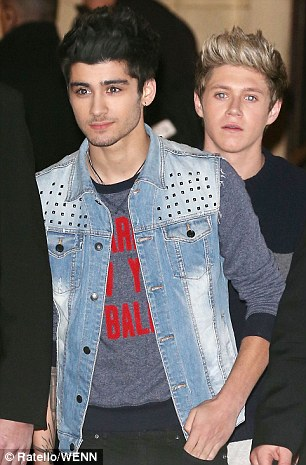 Feud: The Wanted's Max George (left) and One Direction's Zayn Malik (right) had a four-day Twitter argument last week