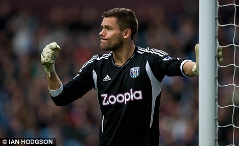 Injury fear: West Brom goalkeeper Ben Foster could need further surgery