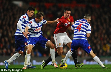 Struggling: QPR are rock-bottom of the Premier League