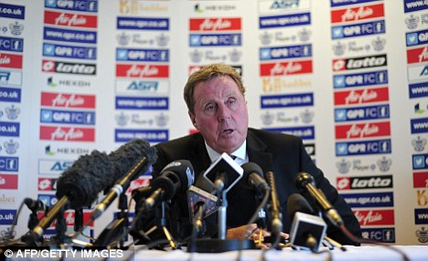 Fresh ideas: Redknapp takes charge for the first time on Tuesday night
