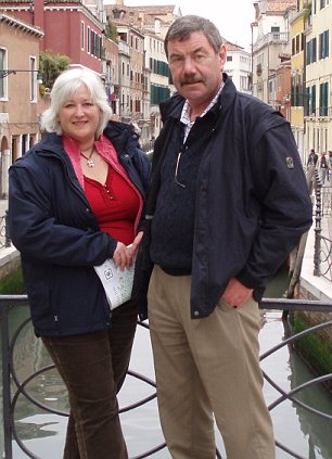 Tragic: Paul Coventry on holiday in Venice with his partner Belinda Wells