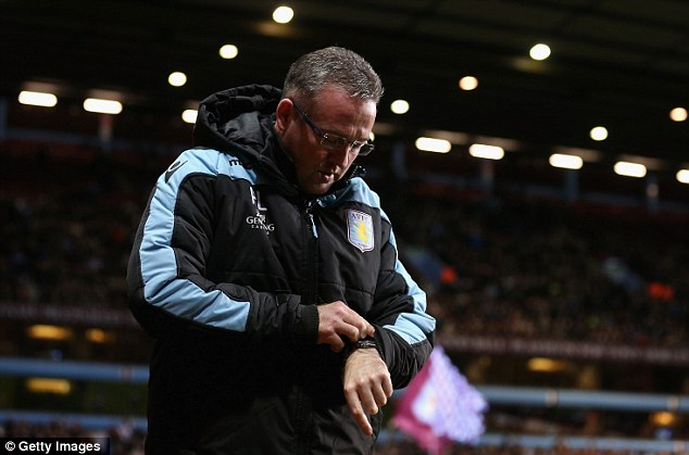 Is that the time? Paul Lambert checks his watch