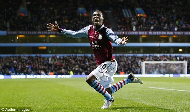 Magic moment: Christian Benteke scored the only goal of the game with a late header