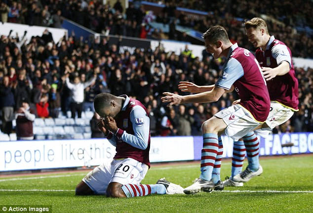 Salvation: Benteke's goal was the highlight of the match