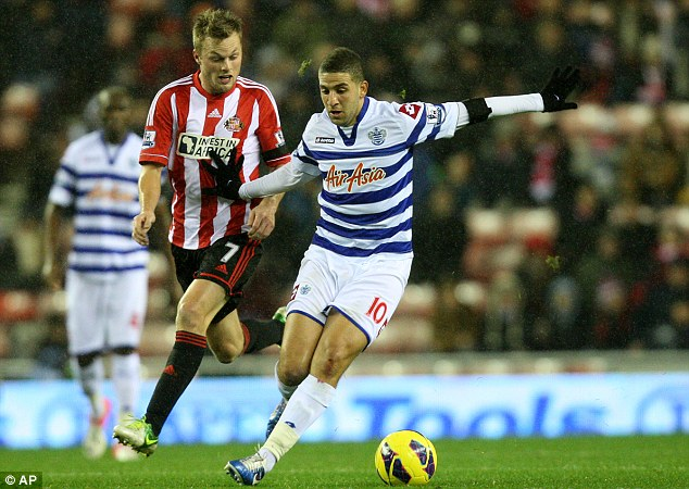 Flair player: Adel Taarabt was reunited with former Spurs boss Radknapp