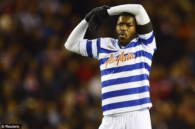 Up for a scrap? Djibril Cisse will need to produce some goals to propel QPR out of the bottom three