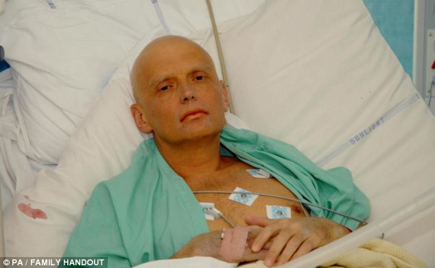 Suspicious: Former KGB agent Alexander Litvinenko died of polonium poisoning in November 2006 in another Russian case shrouded in mystery