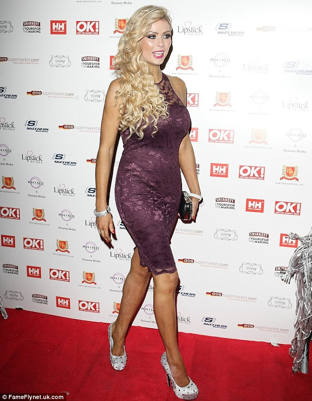 The Z list: Nicola McLean arrived at Sway with her blonde extensions in tight curls and a purple lace dress