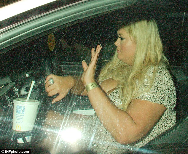 Late night snack: Gemma had picked up some goodies from McDonalds following the event