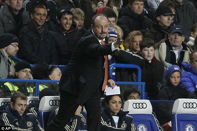 Under the microscope: Chelsea manager Rafael Benitez took charge of Chelsea for the second time