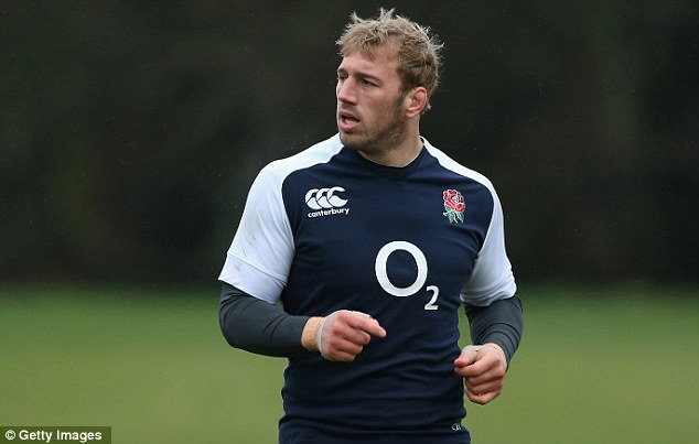 Tough ruck: Chris Robshaw could lose his Lions place in the Lions squad