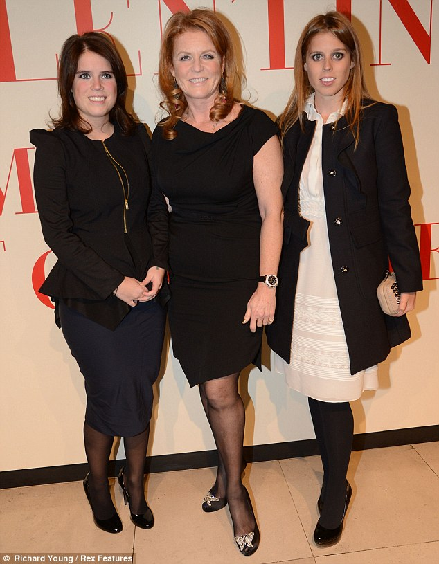 Royalty in the mix: Duchess of York, Sarah Ferguson with her daughters Princesses Beatrice and Eugenie