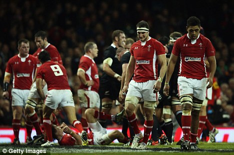 Tough times: Warburton and Wales can't hide their gloom following the 33-10 loss to New Zealand
