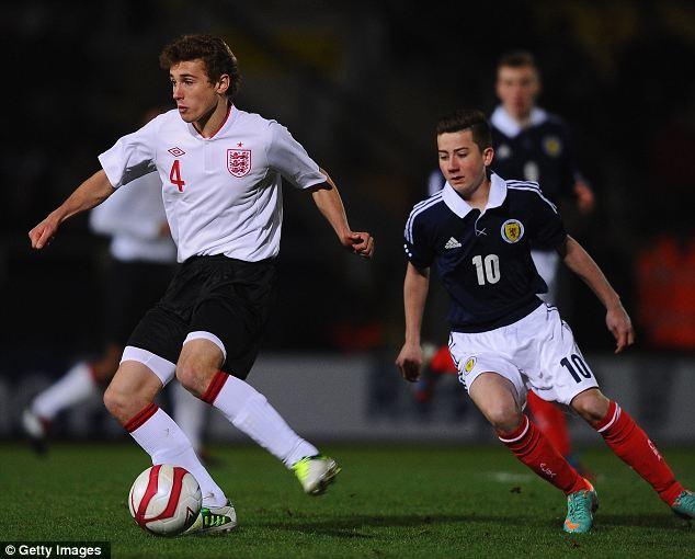 On the ball: Ryan Ledson of England