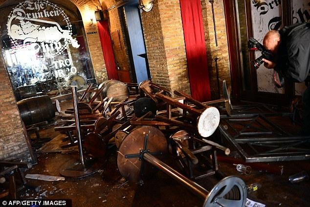 Scene of the crime: The Drunken Ship pub in Rome