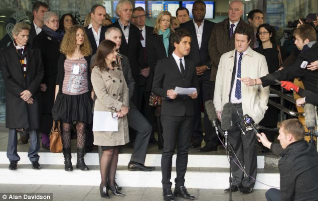 Campaigners from the Hacked Off group have called on Mr Cameron to implement the Leveson Report in full