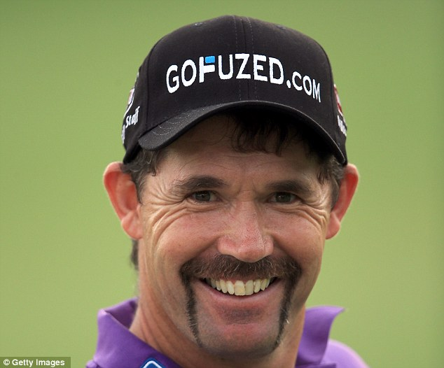 All smiles: Padraig Harrington can be rightfully proud of his facial hair this month