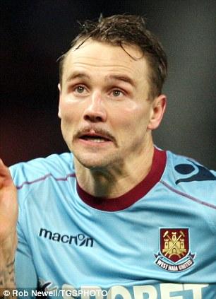 Matt Taylor of West Ham movember