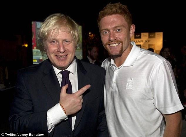 Best in grow: Even Boris was impressed by Jonny Bairstow's tashe